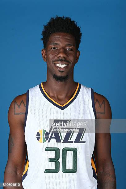 Henry Sims of the Utah Jazz poses for a headshot during 20162017 Utah Jazz Media Day at Zions Bank Basketball Center on September 26 2016 in Salt...