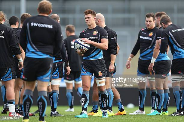 Henry Slade during the Exeter Chiefs training session at Sandy Park on October 13 2016 in Exeter England