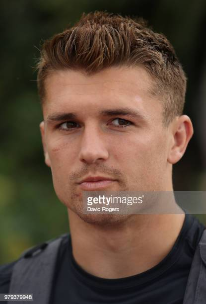 Henry Slade faces the media during the England media session on June 20 2018 in Umhlanga Rocks South Africa