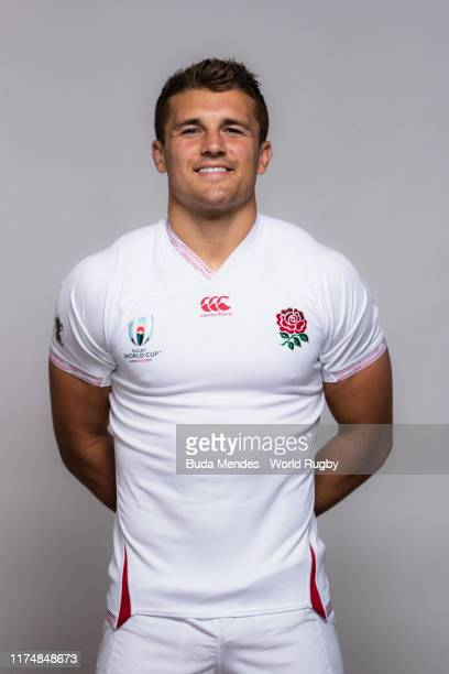 Henry Slade of England poses for a portrait during the England Rugby World Cup 2019 squad photo call on September 15 2019 in Miyazaki Japan