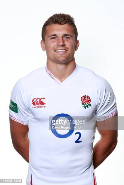 Henry Slade of England poses for a portrait during the England Squad Photocall on July 14 2019 in Bristol England