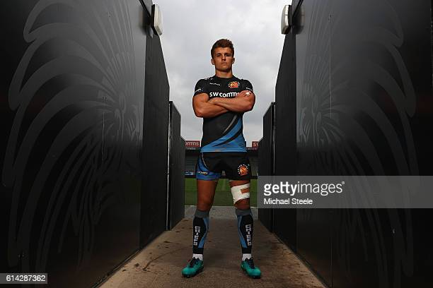 Henry Slade of Exeter Chiefs poses for a portrait following the Exeter Chiefs training session at Sandy Park on October 13 2016 in Exeter England