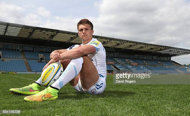 Henry Slade poses during the Exeter Chiefs media session held at Sandy Park on May 25 2016 in Exeter England