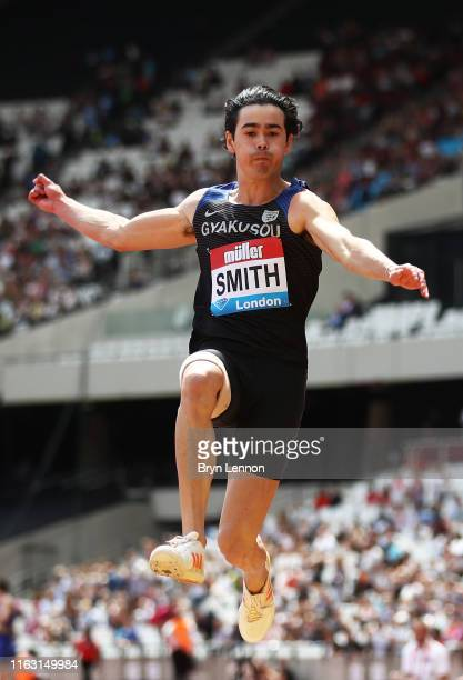 Henry Smith of Australia competes in the Long Jump during Day One of the Muller Anniversary Games IAAF Diamond League event at the London Stadium on...