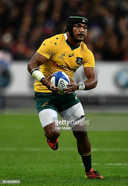 Henry Speight of Australia makes a break during the international match between France and Australia at Stade de France on November 19 2016 in Paris...