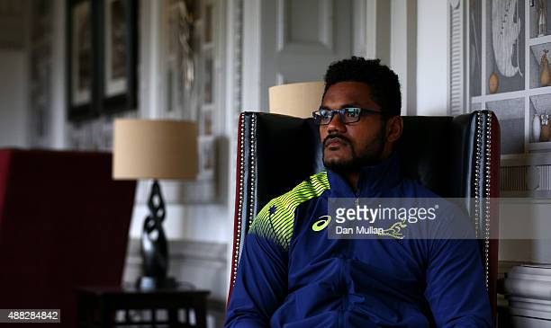 Henry Speight of Australia poses for a portrait during an Australia media session at the MacDonald Bath Spa Hotel on September 15 2015 in Bath United...