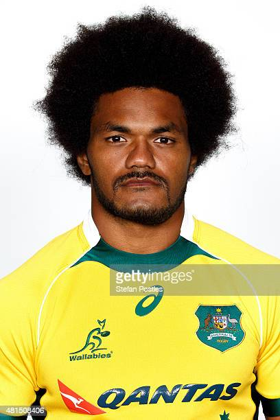 Henry Speight poses during the official 2014 Australian Wallabies headshots session on April 9 2014 in Canberra Australia