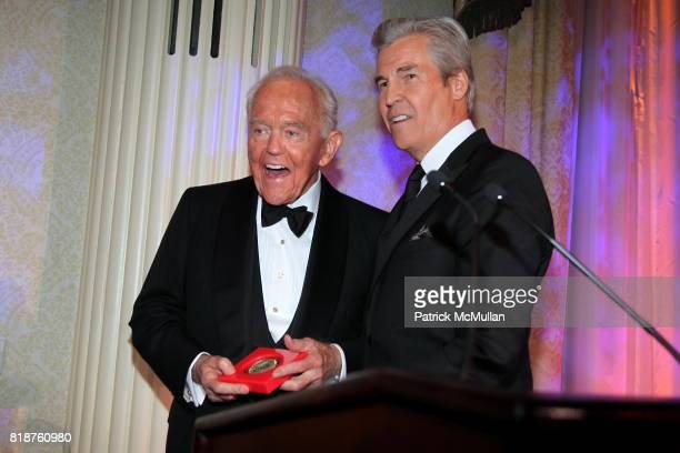 Henry T Segerstrom and Terry Lundgren attend Carnegie Hall Medal of Excellence Gala Honoring HENRY T SEGERSTROM at WaldorfAstoria on June 7 2010 in...