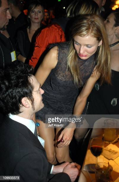 Henry Thomas Cameron Diaz during Miramax 2003 Golden Globes Party Sponsored by Glamour Magazine and Coors at Trader Vic's in Beverly Hills CA United...