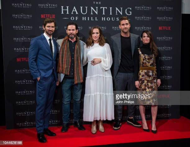 Henry Thomas Michiel Huisman Kate Siegel Oliver JacksonCohen and Elizabeth Reaser attend a special screening of Netflix's The Haunting of Hill House...