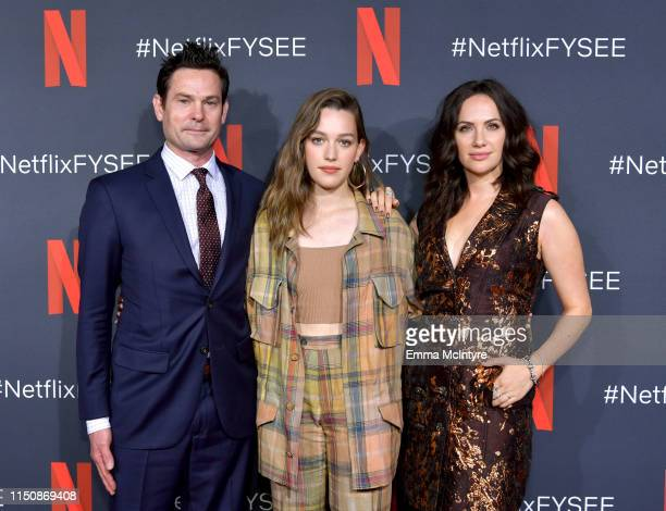 Henry Thomas Victoria Pedretti and Kate Siegel attend the Netflix FYSEE Event for Haunting of Hill House at Raleigh Studios on May 21 2019 in Los...