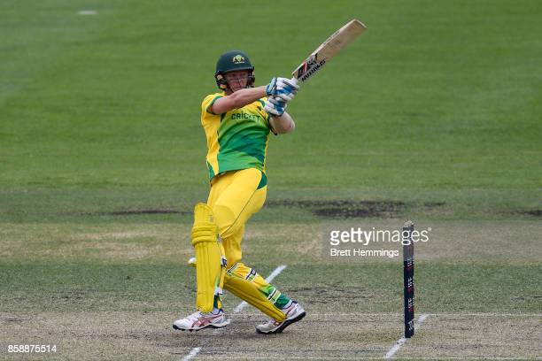 Henry Thornton of CAXI bats during the JLT One Day Cup match between New South Wales and the Cricket Australia XI at Hurstville Oval on October 8...