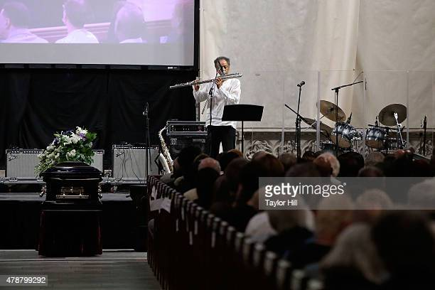Henry Threadgill and Jason Moran perform SAIL at the Ornette Coleman Funeral Service at Riverside Church on June 27 2015 in New York City