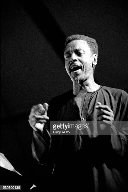 Henry Threadgill conducting his 18piece big band at Hudson Tent as part of the Texaco New York Jazz Festival on June 12 1998