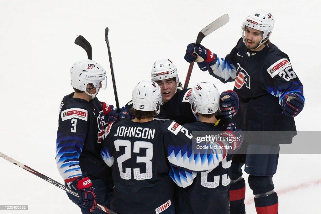 United States v Slovakia: Quarterfinals - 2021 IIHF World Junior Championship : News Photo