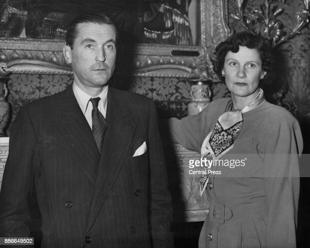 Henry Thynne, 6th Marquess of Bath and his wife the Marchioness , circa 1952. The couple were divorced in 1953.