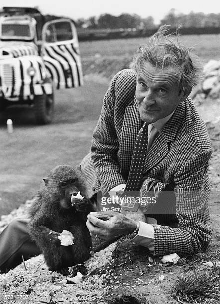 Henry Thynne 6th Marquess of Bath opens the new monkey jungle at Longleat Safari Park his family seat in Wiltshire 14th May 1969