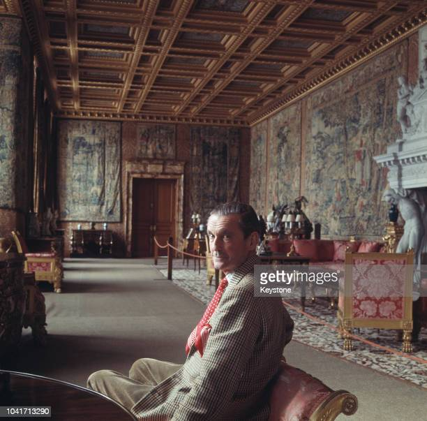 Henry Thynne 6th Marquis of Bath at home in Longleat House Somerset circa 1973