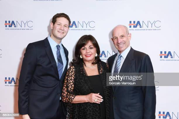 Henry Tisch Charlotte St Martin and Jonathan Tisch during the Hotel Association of New York City hosts 'The Red Carpet Hospitality Gala' HANYC's...