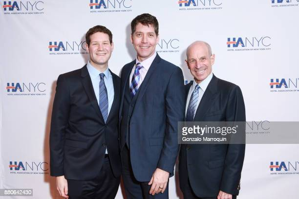 Henry Tisch James Barbour and Jonathan Tisch during the Hotel Association of New York City hosts 'The Red Carpet Hospitality Gala' HANYC's Annual...