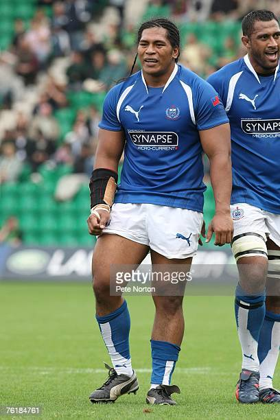 Henry Tuilagi of Samoa during the Friendly Rugby Union Match between Northampton Saints and Samoa at Franklin's Gardens on August 19 2007 in...