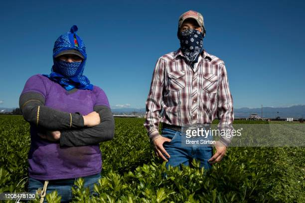 Henry Vasques has been an agricultural laborer for 9 years. He is seen with Juana Gonzalez who has labored for 10 years. Henry worries about Covid-19...