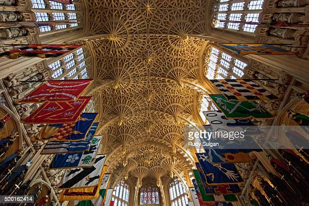 henry vii chapel at westminster abbey - westminster abbey stock pictures, royalty-free photos & images