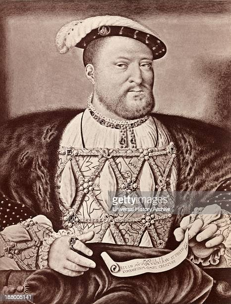 Henry Viii 1491 – 1547 King Of England After The Portrait Of Henry At FortyFive Years Of Age By Joos Van Cleve From History Of Hampton Court Palace...