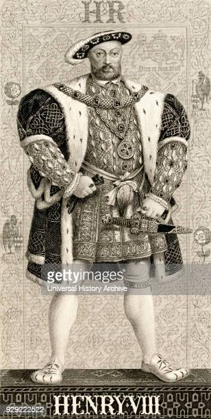 Henry VIII 1491 to 1547 King of England and Ireland From Illustrations of English and Scottish History published 1882
