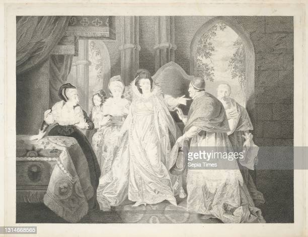 Act III, Scene I, A Room in the Queen's Apartments, Robert Thew, 1758–1802, British, after Matthew William Peters, 1742–1814, British Engraving,...