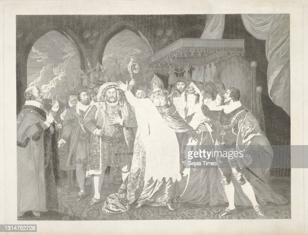 Henry VIII, Act V, Scene IV, The Palace, Joseph Collyer, 1748–1827, British, after Matthew William Peters, 1742–1814, British Engraving, Sheet: 17...