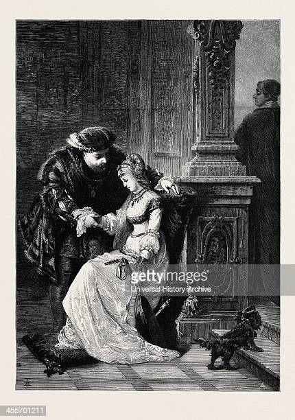 Henry Viii And Anne Boleyn' By GF Folingsby From The National Gallery Of Art At Melbourne Australia 1880