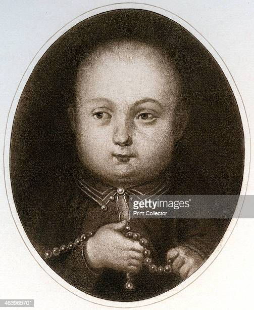 'Henry VIII as a Child' Portrait of King Henry when young Illustration from Henry VIII by A F Pollard published by Goupil and Co