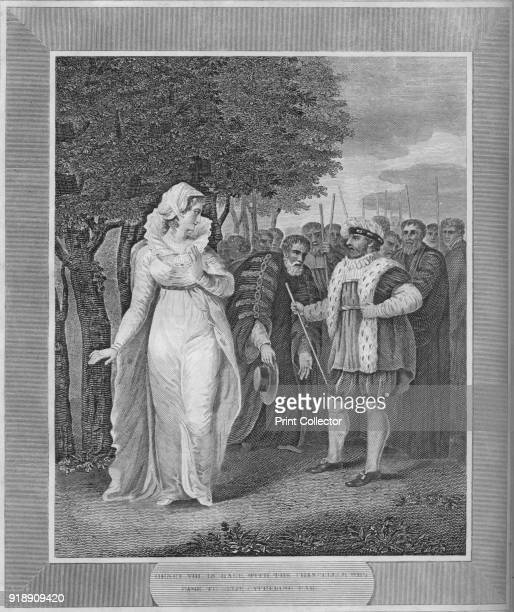 'Henry VIII in rage with the Chancellor Who Came To Seize Catherine Parr' 1838 Henry VIII King of England from 1509 until his death Catherine Parr...
