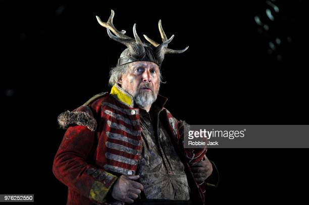 Henry Waddington as Sir John Falstaff in Giuseppe Verdi's Falstaff directed by Bruno Ravella and conducted by Richard Farnes at Garsington Opera at...