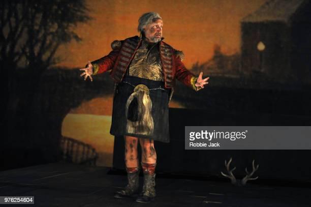 Henry Waddington as Sir John Falstaff in Giuseppe Verdi's Falstaff directed by Bruno Ravella and conducted by Richard Farnes at Garsington Opera at...