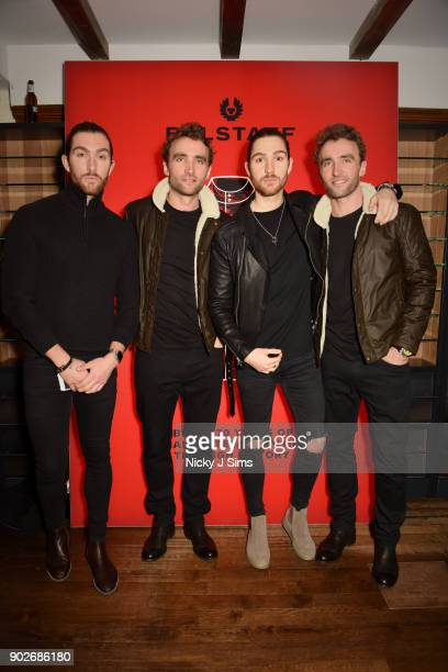 Henry Wade William Wade Ross Turner and Hugo Turner attend luxury emporium Liberty London London Fashion Week Mens Event to celebrate the launch of...
