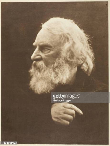 Henry Wadsworth Longfellow printed 1875. A work made of carbon print. Artist Julia Margaret Cameron.
