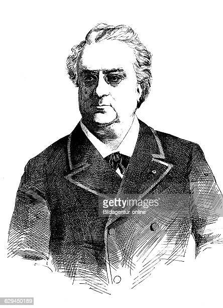 Henry warnots 1832 1893 famous belgian opera singer and tenor professor at the conservatory of brussels historical woodcut circa 1888