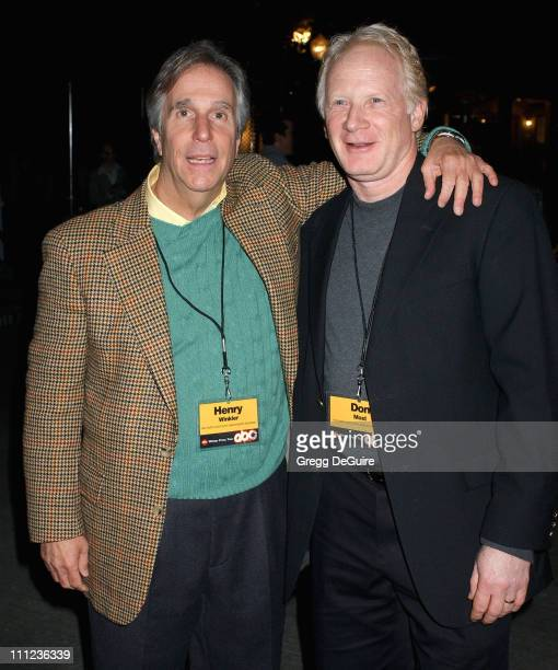 Henry Winkler and Don Most during 2005 ABC Winter Press Tour Party - Party at Universal Studios in Universal City, California, United States.