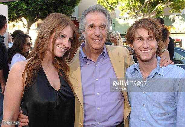Henry Winkler and his daughter Zoe and son Max during Click Los Angeles Premiere Red Carpet at Mann Village Theatre in Westwood California United...