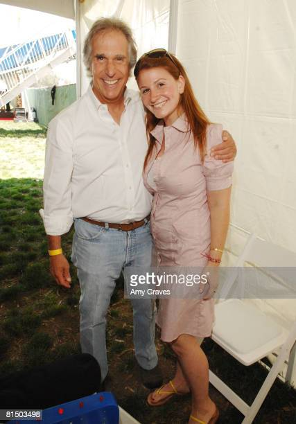 Henry Winkler and Zoe Winkler attends the Elizabeth Glaser Pediatric AIDS Foundation A Time For Heroes Celebrity Carnival on June 8 2008 at Wadsworth...