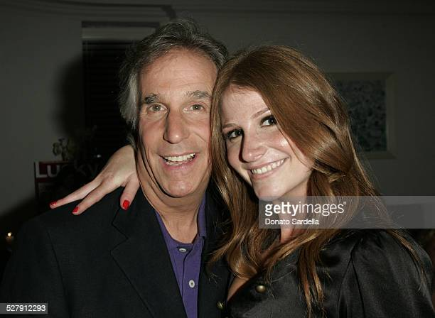 Henry Winkler and Zoe Winkler during Lucky Magazine Celebrates Its September 2005 Cover Girl Rachel Bilson at Chateau Marmont in West Hollywood...