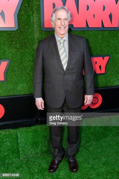 Henry Winkler attends the Los Angeles premiere of HBO's 'Barry' at NeueHouse Los Angeles on March 21 2018 in Hollywood California