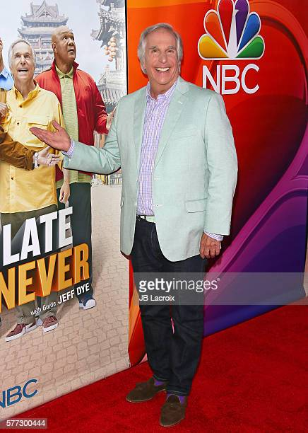 Henry Winkler attends the Los Angeles screening of NBC's 'Better Late Than Never' held at Universal Studios Hollywood on July 18 2016 in Universal...