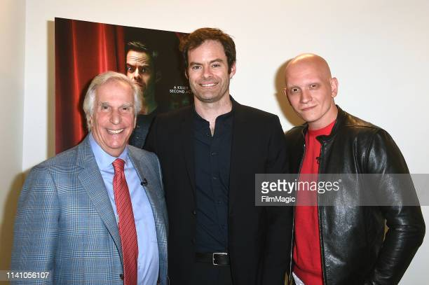 Henry Winkler Bill Hader and Anthony Carrigan attend Barry FYC on May 3 2019 in Los Angeles California