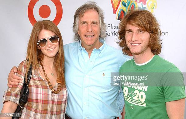 Henry Winkler daughter Zoey and son Max during Elizabeth Glaser Pediatric AIDS Foundation 2005 A Time For Heroes Celebrity Carnival Arrivals in Los...