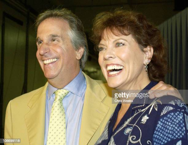 "Henry Winkler & Erin Moran during David Spade and Co-Stars from Paramount Pictures' ""Dickie Roberts: Former Child Star"" Tape Hollywood Squares at CBS..."