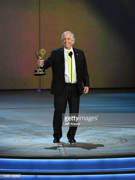 Television Academy Chairman and CEO Hayma Washington speaks onstage during the 70th Emmy Awards at Microsoft Theater on September 17 2018 in Los...