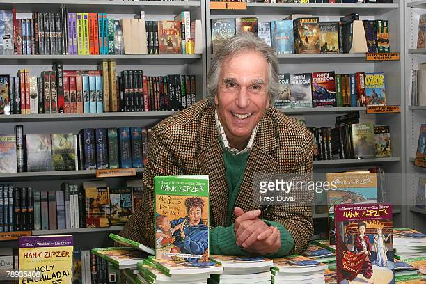 Henry Winkler signs copies of his children's book 'Who Ordered This Baby Definitely Not Me' at Forbidden Planet on January 14 2008 in London England